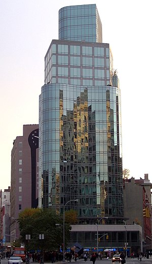 Charles Gwathmey - Gwathmey designed this condominium tower at 445 Lafayette Street where Lafayette, Cooper Square and Astor Place come together.