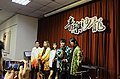 5 people standing on the stage with Demon Slayer cosplay clothing 20210321f.jpg