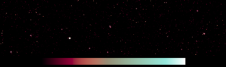 LOFAR - At low radio frequencies the sky is dominated by small bright sources (shown is a 151 MHz map of the region: 140° to 180° Galactic longitude; -5° to 5° Galactic latitude). LOFAR will have sufficient fidelity and sensitivity to see faint structure between these bright sources because of the very large number of array elements.