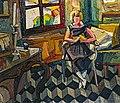 81 - Luce lisant à Rabastens - Georges Gaudion vers 1924 Huile sur toile - Musée du Pays rabastinois inv.2004.27.2.jpg