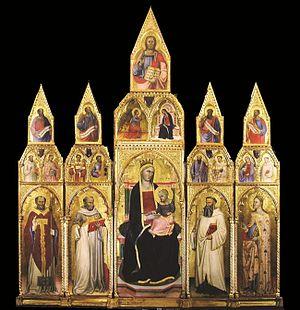 Cecco di Pietro - Image: 8 Cecco di Pietro. Polyptych from Agnano. 1386 95