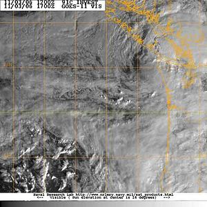 2006 Central Pacific cyclone - 91C at landfall in Washington on November 3