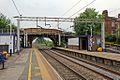 A54 Station Road bridge, Holmes Chapel railway station (geograph 4524635).jpg