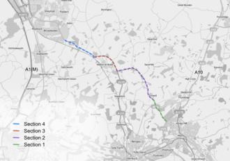 A602 road - Image: A602development
