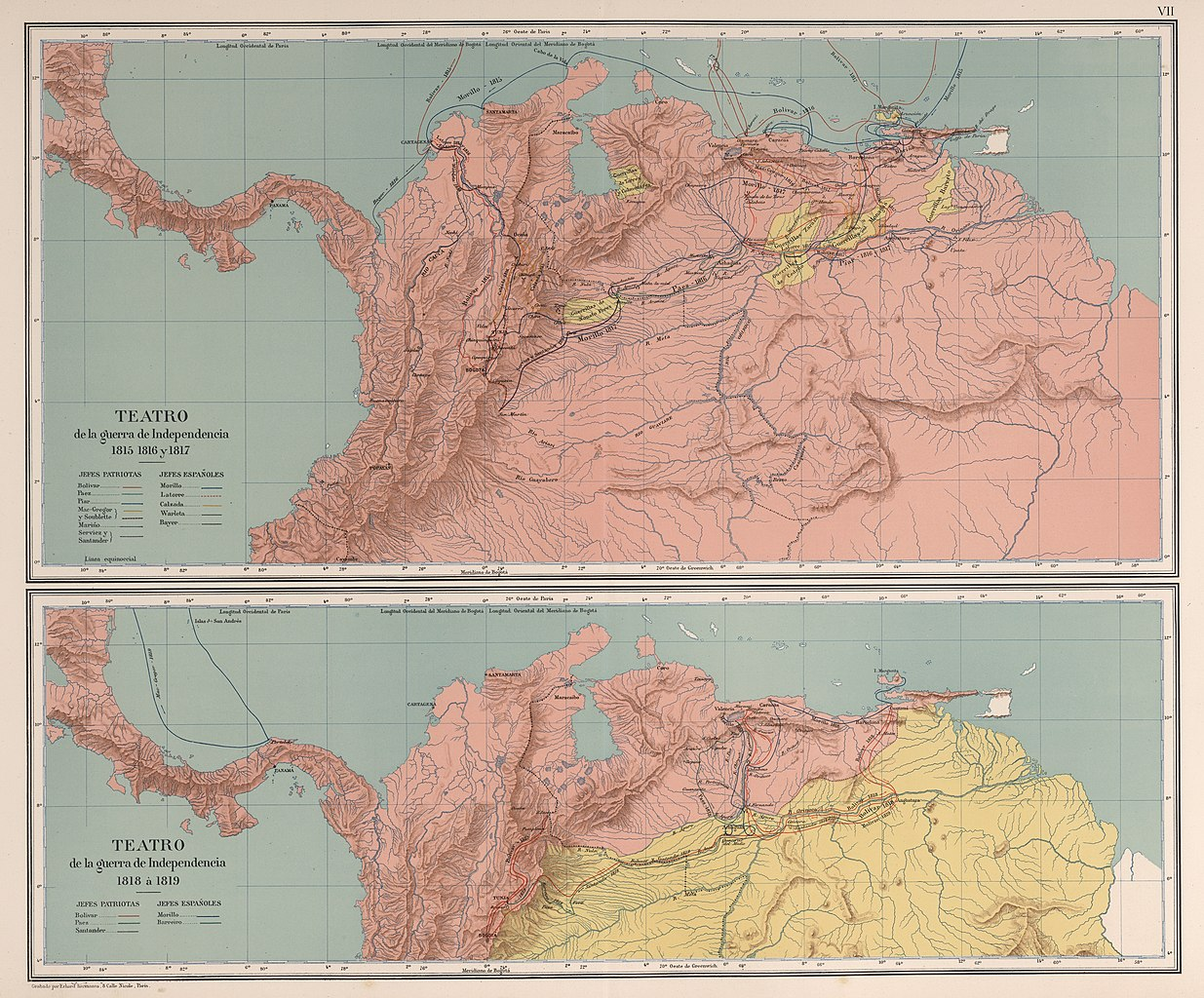 File Aghrc 1890 Carta Vii Guerras De Independencia En Colombia 1815 1819 Jpg Wikimedia Commons
