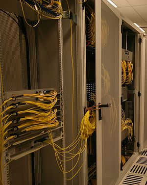 Amsterdam Internet Exchange - The AMS-IX core cage at euNetworks