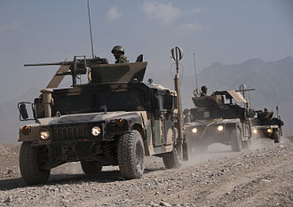 Battle of Khaz Oruzgan - A combined humvee convoy performing a routine clearance patrol exercise