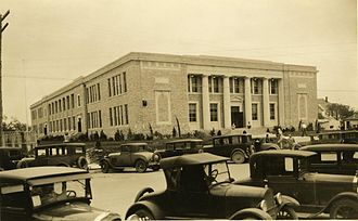 Angelo State University - The Old Main Building on North Oaks in 1930