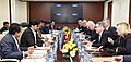 A Czech delegation led by the Minister of Foreign Affairs, Czech, Mr. Lubomir Zaoralek meeting the Minister of State for Heavy Industries & Public Enterprises, Shri Babul Supriyo, in New Delhi on December 19, 2016.jpg