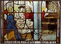 A Lady hosts Bernard and his Friends, Cloister of the Cistercian Monastery, Altenberg, probably Master of St. Severin, Cologne, 1505-1520, stained glass - Museum Schnütgen - Cologne, Germany - DSC09738 01.jpg