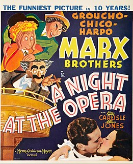 <i>A Night at the Opera</i> (film) 1935 Marx Brothers film directed by Sam Wood