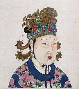Hoàng đế Trung Hoa · A Tang Dynasty Empress Wu Zetian.JPG
