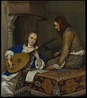 A Woman Playing the Theorbo-Lute and a Cavalier MET DP145907.jpg