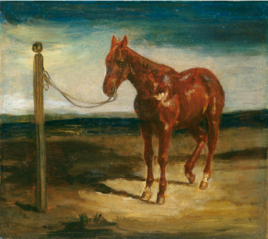 A Horse Hitched to a Post