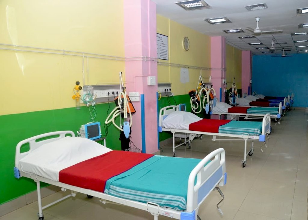 A hospital ward in Assam in response to the 2020 COVID-19 pandemic