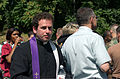 A local priest shows up moments after a hijacked jetliner crashed into the Pentagon at approximately 0930 on September 11, 2001 010911-M-CI426-072.jpg