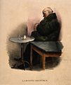 A man resting after a drink; representing good digestion. Co Wellcome V0011753.jpg
