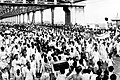 A procession of people of Manbhum is crossing Howrah Bridge.jpg