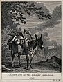 A small donkey loaded with two full baskets standing outside Wellcome V0021156EL.jpg