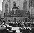 Aankomst bij de Grote Kerk en Hoofdwacht te Zwolle, Bestanddeelnr 900-2519.jpg