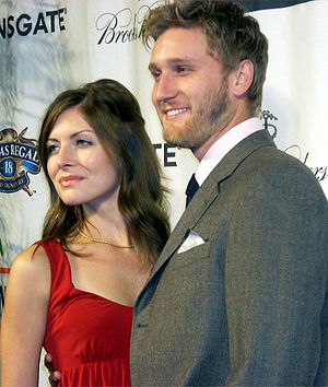 Aaron Staton - Image: Aaron Staton and Connie Fletcher (2008)