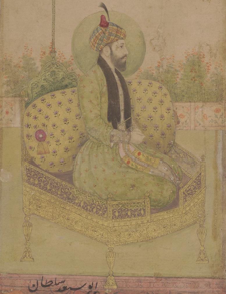 Abu Said seated on a throne