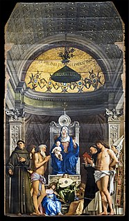 Altarpiece by Giovanni Bellini from the Church San Giobbe, now Gallerie dell