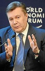 Bild von Präsident Wiktor Janukowitsch auf dem Weltwirtschaftsforum