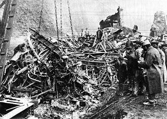 Saint-Michel-de-Maurienne derailment - Image: Accident ferroviaire de Saint Michel de Maurienne (1917)