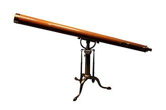 Achromatic telescope - Achromatic telescope by Hooke, 18th century.