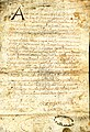 Acte d'institution des Cordeliers de Villefranche par Guichard de Beaujeu.jpg