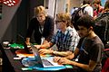 Ad Huikeshoven, Wikimedia Nederland, testing software in the community village at Wikimania 2014.jpg