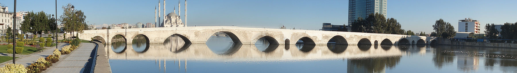 The Roman-era Stone Bridge spanning the Seyhan River