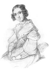 Adele Schopenhauer in einem Porträt von Alexander von Sternberg aus dem Jahr 1841 (Quelle: Wikimedia)