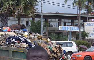 2006 Ivory Coast toxic waste dump - A truck full of garbage on the streets of Abidjan. Much of Trafigura's toxic waste was dumped in large open areas in the poor suburbs of the city