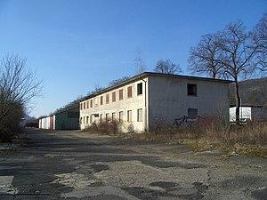Administraion building and hangar of former Trier Air Base 2012.JPG
