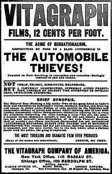 Anonco por muta filmo La Aŭto Thieves en gazeto, The New York Clipper.jpg