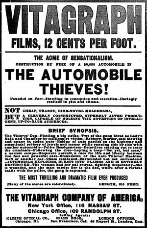 The Automobile Thieves - Advertisement in The New York Clipper