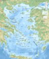 Aegean Sea map bathymetry-es.png