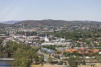 Wagga Wagga - Aerial view of central Wagga Wagga