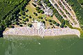 Aerial view of the sandy beach and of the swimming area of Otto-Maigler-See in Hürth, Germany (48331229741).jpg