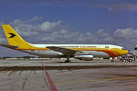 Aerocondor Colombia Airbus A300B4-2C at SFO.jpg