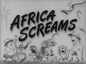 1940s in film - Africa Screams was first released in 1949 and stars Bud Abbott and Lou Costello