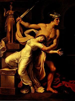 Cassandra - Ajax and Cassandra by Johann Heinrich Wilhelm Tischbein, 1806