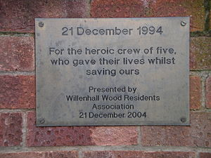 Willenhall, Coventry - Plaque on Middle Ride