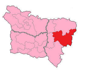 Aisne's 1st constituency - Aisne's 1st constituency shown within Picardie
