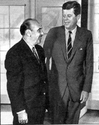 Anthony J. Celebrezze - Celebrezze and John F. Kennedy