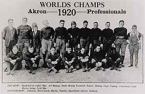 1920 Akron Pros season - The 1920 team, NFL champions.