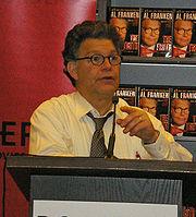 Franken speaking in New York City