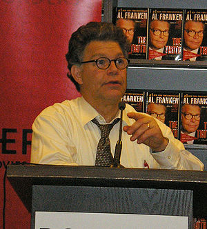 Al Franken makes a point by David Shankbone, N...